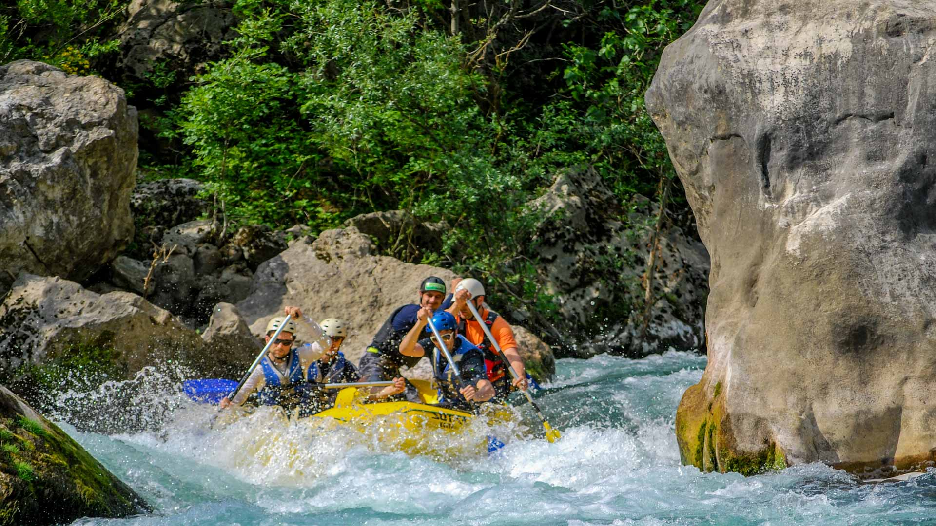 Rafting a fiume Cetina